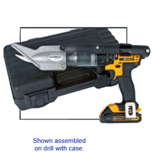 The Condux 08010220 TurboSlitter, Inner Duct Slitter. Shown assembled on drill with case.