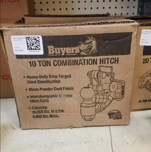 """10 Ton Dual-Purpose Pintle Hook 2"""" Ball - TR-DPH2000-20K"""