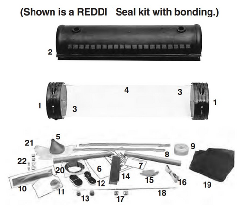 "6.5"" x 38.5"" REDDI Seal Closure - with Bonding - 8006185"