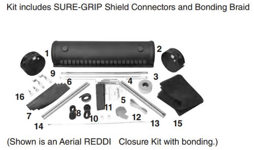 """6.5"""" x 28.4"""" Aerial REDDI Closure - with Bonding"""