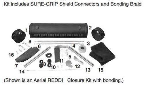 """6.5"""" x 38.5"""" Aerial REDDI Closure - with Bonding"""