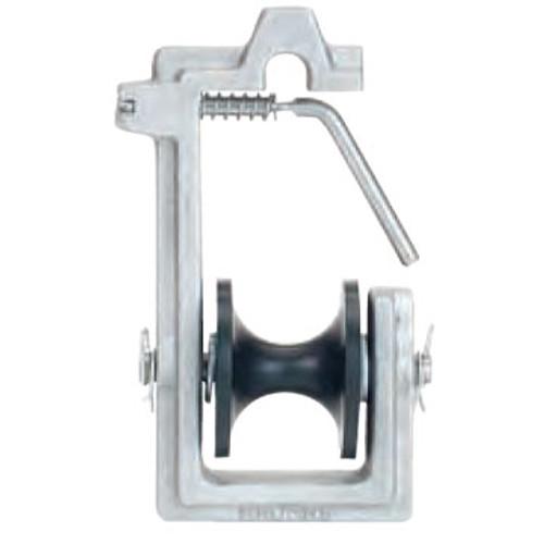 "CX18401060 Cable Block Aluminum Frame Plastic Wheel Single,  1 - 1.25"" CBL"