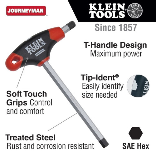 "5/16"" Hex Key w/ 9"" Journeyman T-Handle"