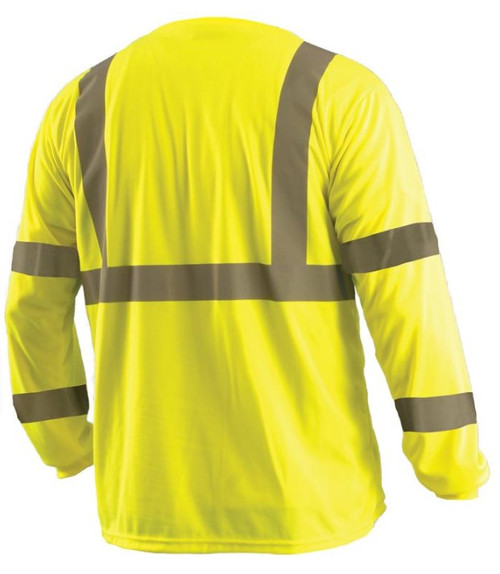 Yellow ANSI Class 3 Long Sleeve Birdseye Wicking T-Shirt
