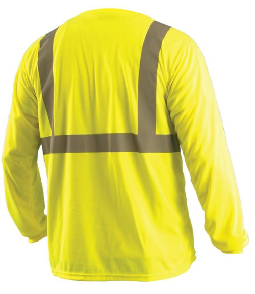 Yellow ANSI Class 2 Long Sleeve Birdseye Wicking T-Shirt