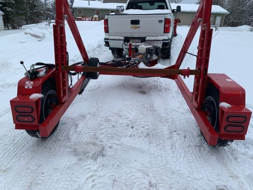 8,000lb Hydraulic Reel Trailer w/Rewinder 8hp Honda JTC