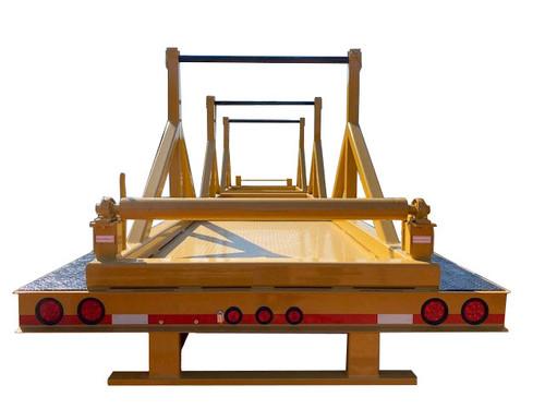 20 Ton 3 Reel Trailer - 24' Flat Deck
