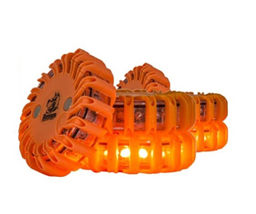 LED Rechargeable 6-Pack Road Flares High Visibility