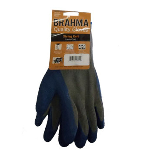GL 39-C1305-XLG Glove, Latex Crinkle Grip Blue/Gry Palm Thumb & fingers G-TEK Size: Extra Large