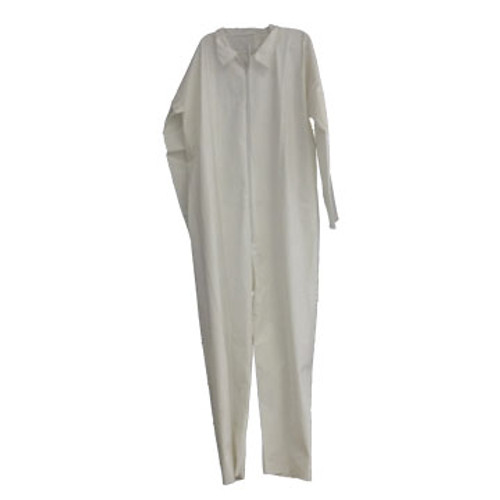 SP CVL-KGXL Keyguard Coverall XL, w/ Open Wrist and Ankle Zipper Front, White