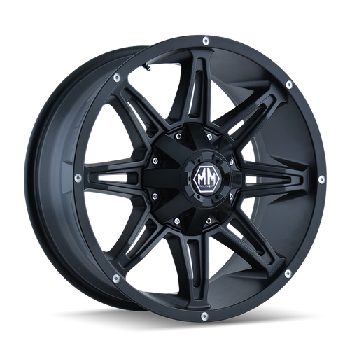 20x9 6x5.5/6x135 5.75BS 8090 Rampage Matte Black - Mayhem Wheels