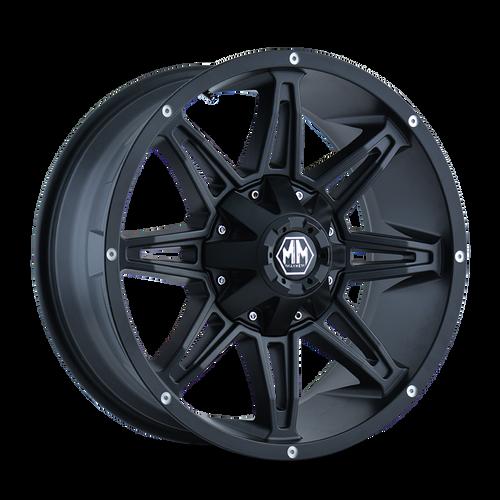 17x9 6x5.5/6x135 5.75BS 8090 Rampage Matte Black - Mayhem Wheels