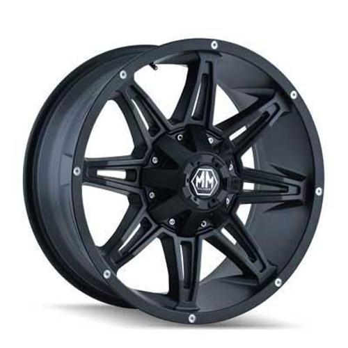 17x9 5x5.5/6x5.5 4.53BS 8090 Rampage Matte Black - Mayhem Wheels