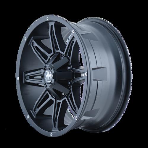 18x9 8x6.5/8x170 4.53BS 8090 Rampage Matte Black - Mayhem Wheels