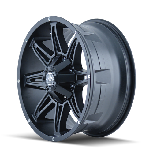 18x9 8x180 4.53BS 8090 Rampage Matte Black - Mayhem Wheels