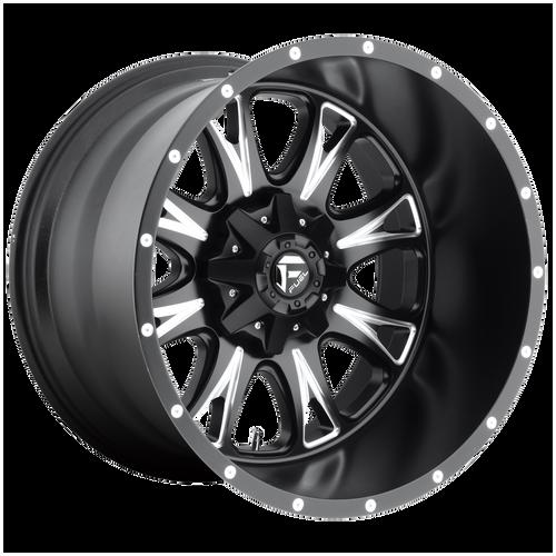 18x9 8x180 5.75BS D513 Throttle Black Milled - Fuel Off-Road