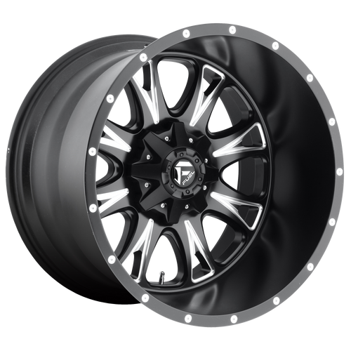 18x9 8x6.5 5BS D513 Throttle Black Milled - Fuel Off-Road