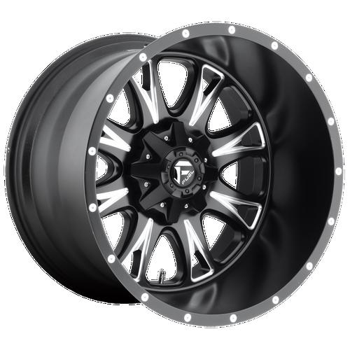 20x9 6x5.5/6x135 5.75BS D513 Throttle Black Milled - Fuel Off-Road