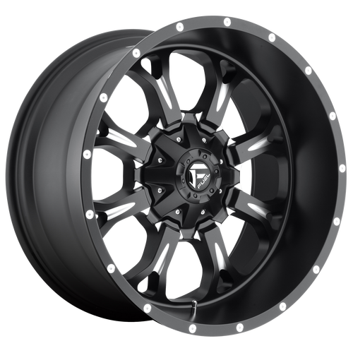 17x9 8x6.5 5.75BS D517 Krank Black Milled - Fuel Off-Road