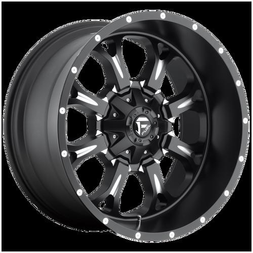 18x9 8x6.5 5BS D517 Krank Black Milled - Fuel Off-Road