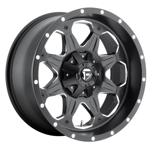 17x9 6x5.5/6x135 5BS D534 Boost Black Milled - Fuel Off-Road