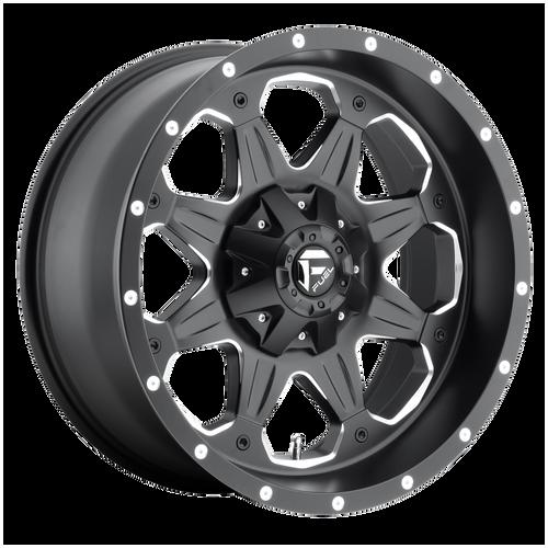 18x9 5x4.5/5x5 5BS D534 Boost Black Milled - Fuel Off-Road