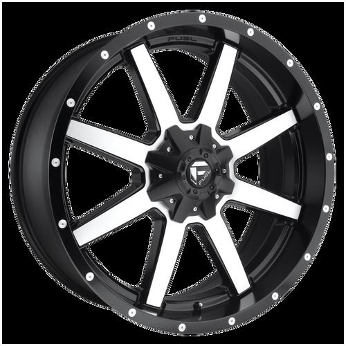 17x9 5x4.5/5x5 4.5BS D537 Maverick Black Machined - Fuel Off-Road