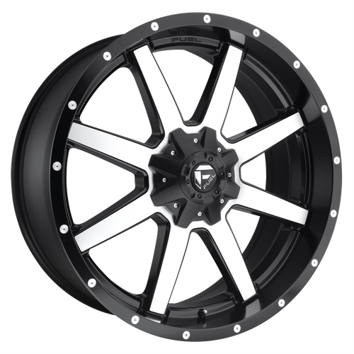 17x9 6x5.5/6x135 4.5BS D537 Maverick Black Machined - Fuel Off-Road