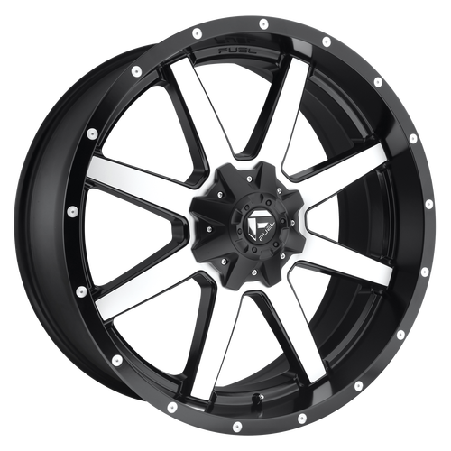 20x12 5x5.5/5x135 4.75BS D537 Maverick Black Machined - Fuel Off-Road