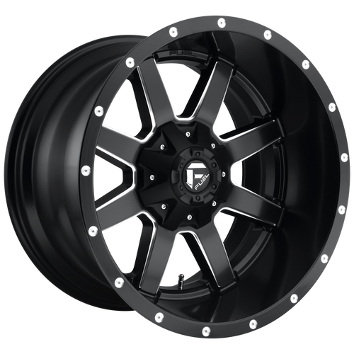 17x9 5x4.5/5x5 4.5BS D538 Maverick Black Milled - Fuel Off-Road