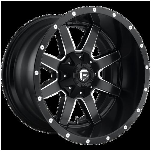 22x9.5 8x180 6.25BS D538 Maverick Black Milled - Fuel Off-Road
