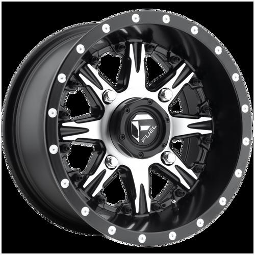 20x10 5x4.5/5x5 4.5BS D541 Nutz Black Machined - Fuel Off-Road
