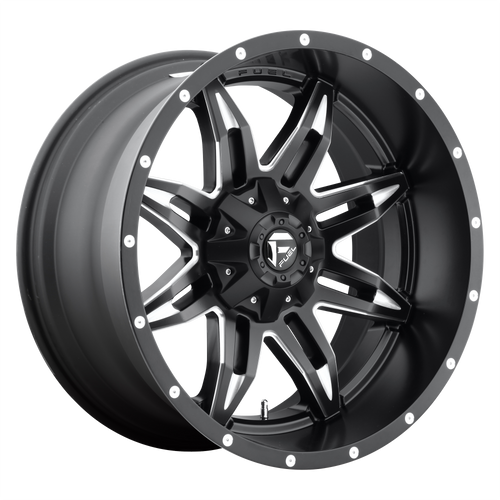 20x10 5x5.5/5x150 4.5BS D567 Lethal Black/Milled - Fuel Off-Road