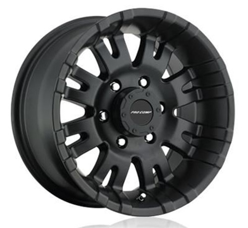 16x8 6x5.5 4.5BS Type 5001 Satin Black - Pro Comp Wheels