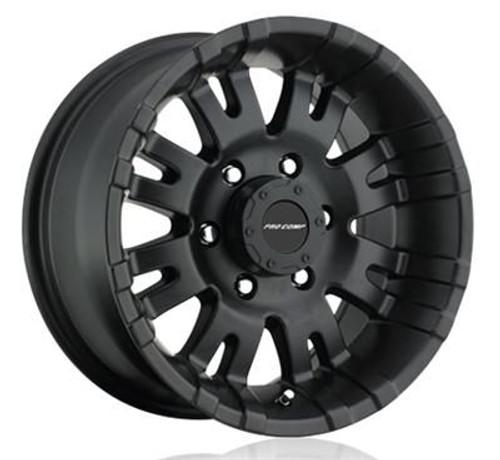 18x8.5 6x5.5 4.5BS Type 5001 Satin Black - Pro Comp Wheels