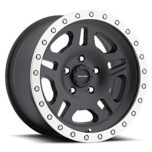 16x8 5x4.5 4.5BS Type 5129 Satin Black/Machined - Pro Comp Wheels