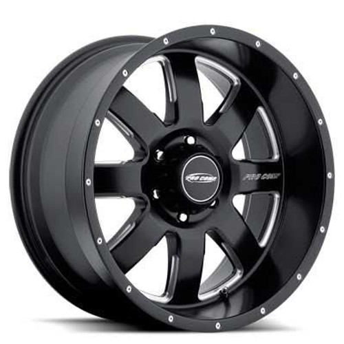 17x9 5x5 4.75BS Type 5183 Matte Black Milled - Pro Comp Wheels