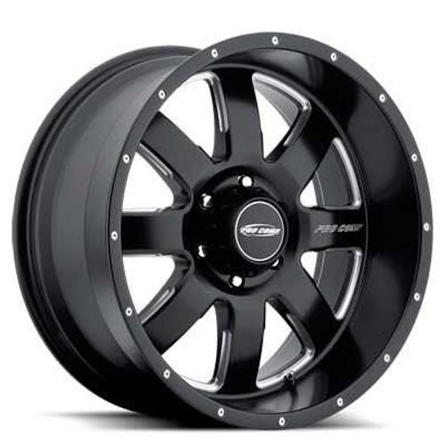 17x9 5x5.5 4.75BS Type 5183 Matte Black Milled - Pro Comp Wheels