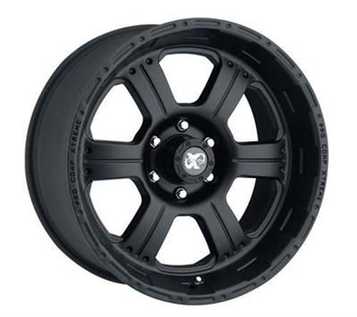 17x8 6x5.5 5.25BS Type 7089 Flat Black - Pro Comp Wheels