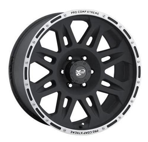 17x9 5x5 4.75BS Type 7105 Flat Black/Machined - Pro Comp Wheels