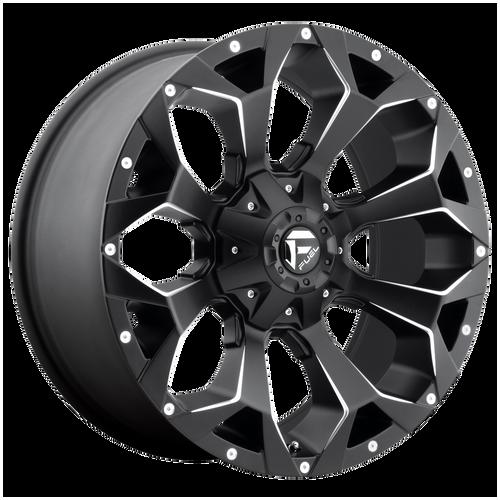 17x9 5x4.5/5x5 4.5BS D546 Assault Black Milled - Fuel Off-Road