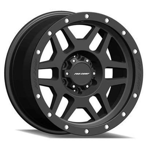 17x9 5x5 4.75BS Type 5041 Phaser Satin Black - Pro Comp Wheels