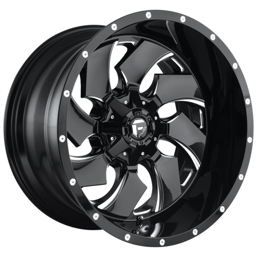18x9 5x4.5/5x5 5BS D574 Cleaver Black Milled - Fuel Off-Road