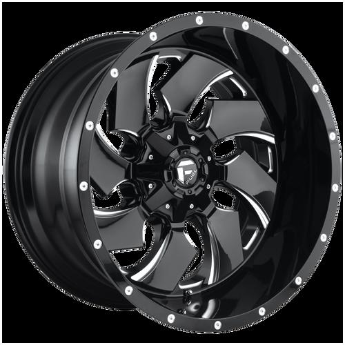 20x12 8x6.5 4.75BS D574 Cleaver Black Milled - Fuel Off-Road