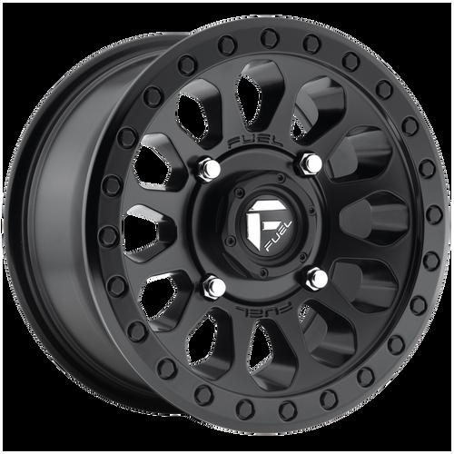 18x9 8x6.5 5.75BS D579 Vector Matte Black - Fuel Off-Road