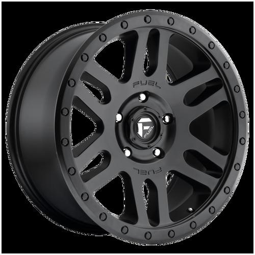18x9 6x5.5 5BS D584 Recoil Matte Black - Fuel Off-Road