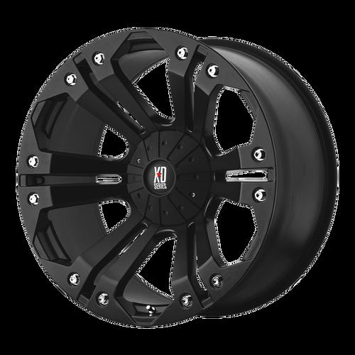 18x9 8x6.5 4.53BS XD778 Monster Matte Black - XD Wheels