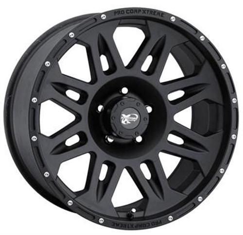 17x9 5x5 4.75BS Type 7005 Flat Black - Pro Comp Wheels