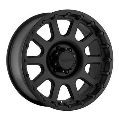 16x8 5x4.5 4.5BS Type 7032 Flat Black - Pro Comp Wheels