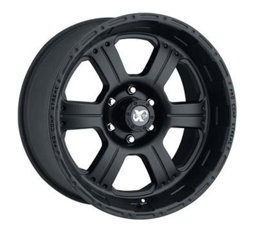 16x8 5x4.5 4.5BS Type 7089 Flat Black - Pro Comp Wheels